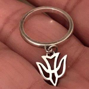 James Avery dangling dove ring.
